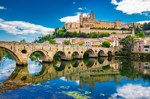 Old Bridge And Cathedral In Beziers, France 1197305818