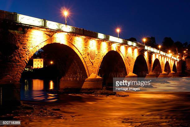 Old Bridge at night Perth Scotland Completed in 1771 this bridge over the River Tay was built by John Smeaton the engineer who built the Eddystone...