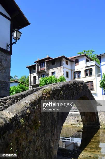 Old brigde over Ea River on 17 June 2017 in Ea Vizcaya Basque Country Spain
