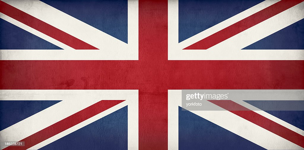 old British flag - Union jack : Stockfoto