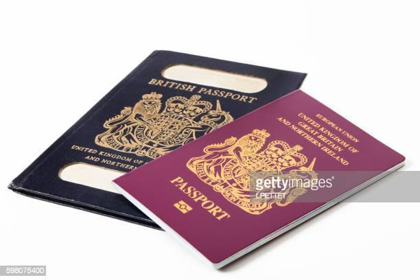 Old British Passport with New British Passport
