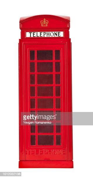Old British style telephone booth