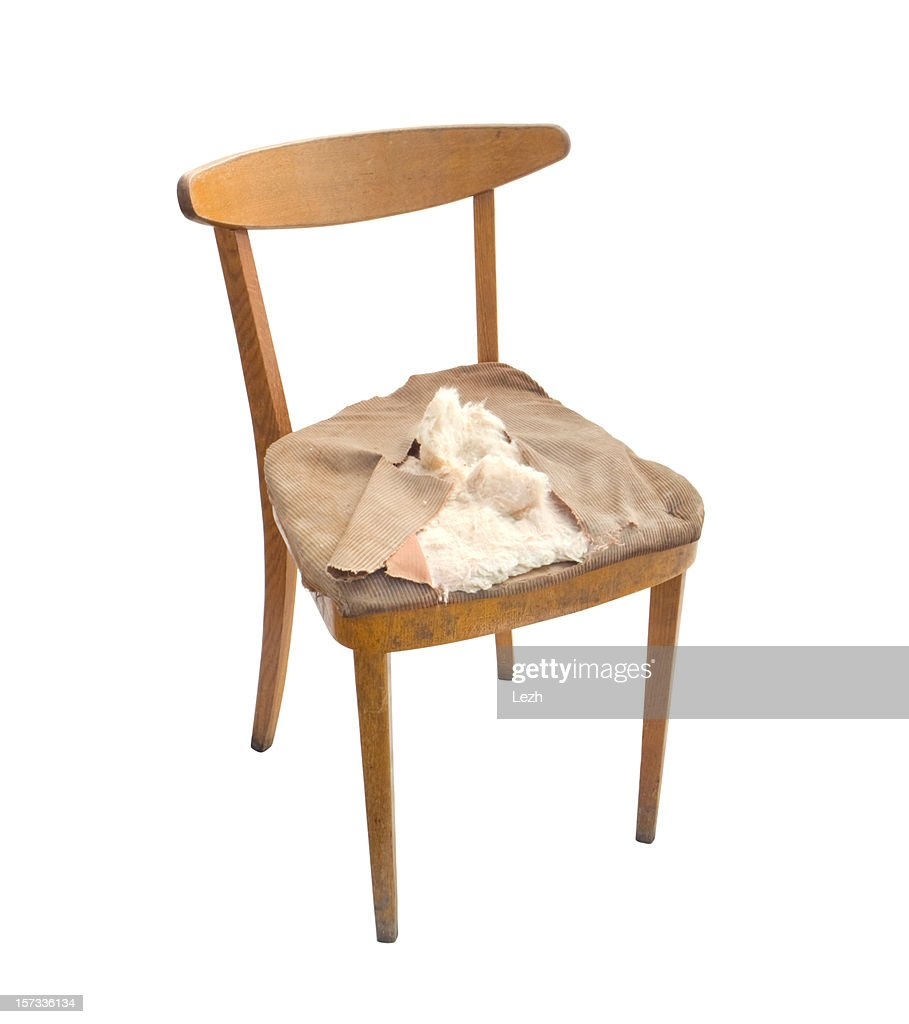 Old Broken Chair Stock Photo