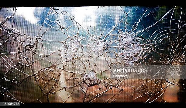 Alte Broken Glass Window