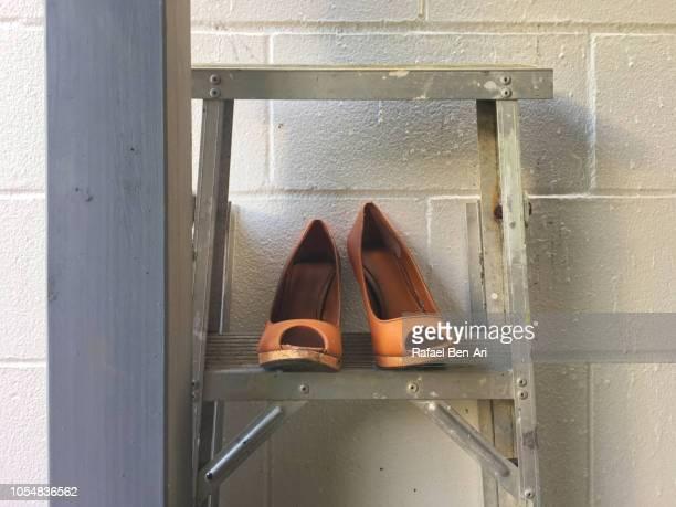 Old Brown Woman High Heels