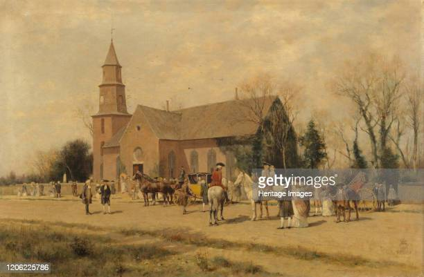 Old Bruton Church Williamsburg Virginia in the Time of Lord Dunmore 1893 Artist A Wordsworth Thompson