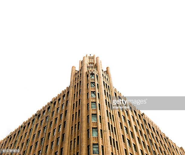 Old building against white background with copy space, Sydney Australia
