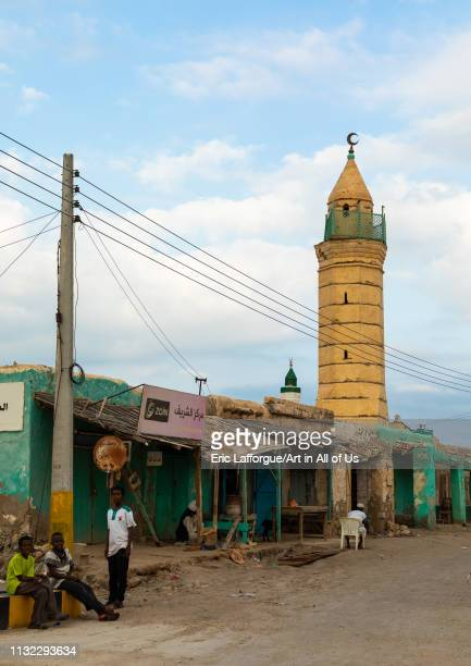 Old building and mosque on mainland, Red Sea State, Suakin, Sudan on December 30, 2018 in Suakin, Sudan.