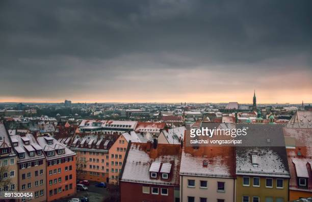 old building in nuremberg during sunset - neo classical stock pictures, royalty-free photos & images