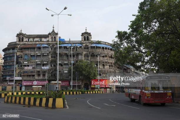 Old building Jer Mahal mass urban housing, Mumbai, Maharashtra, India, Asia