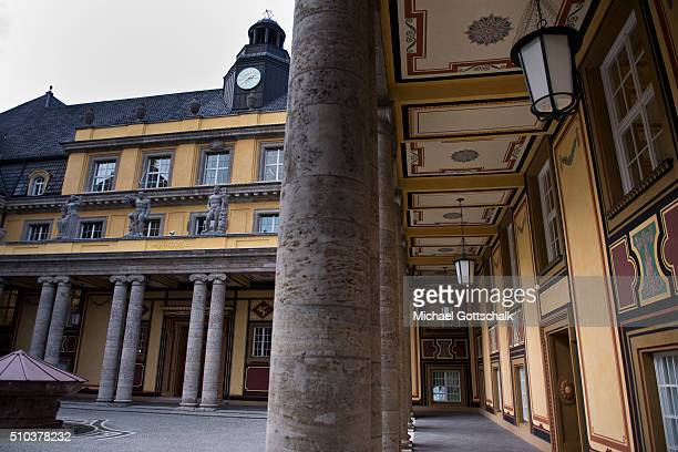 Old building of headquarters of Munich Re of Muenchner Rueckversicherung insurance company on February 15 2016 in Munich Germany