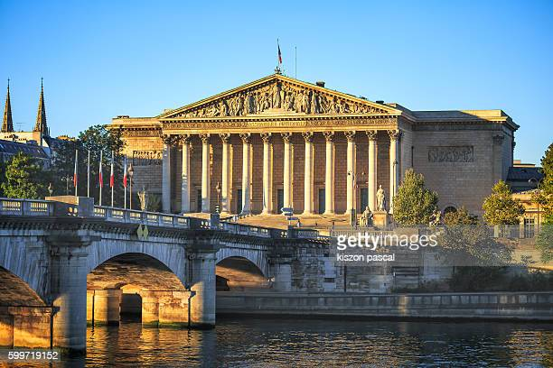 old building of the national assembly in paris during day ( palais bourbon , france ) - national assembly stock photos and pictures