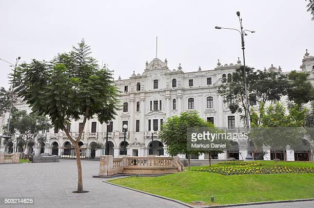 Old Building Plaza San Martin in Lima, Peru