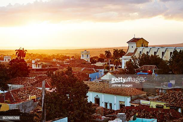 old buildings at dusk - trinidad and tobago stock pictures, royalty-free photos & images