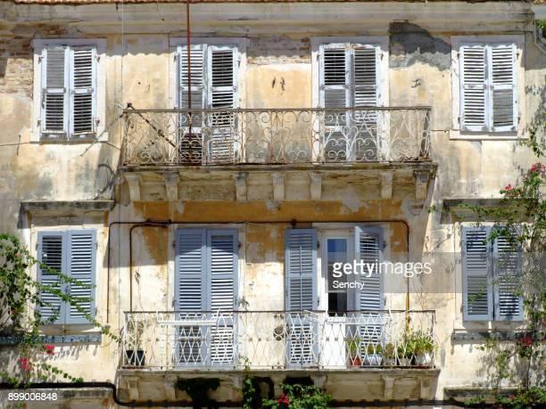Old buildings in Corfu town.
