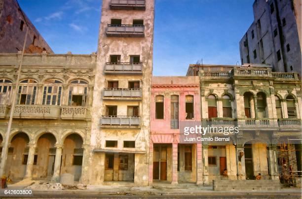 Old buildings in downtown Havana, Cuba