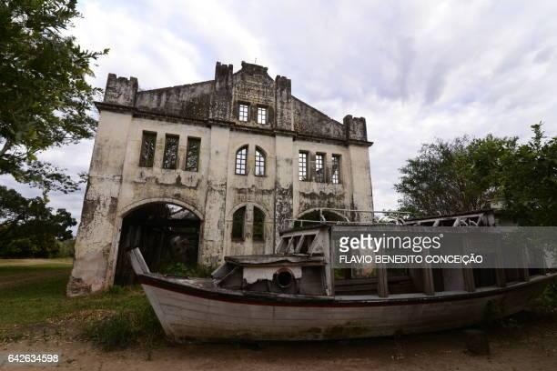 Old buildings in the city of Miranda in the Mato Grosso do Sul wetlands in Brazil.