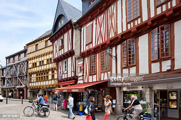 Old buildings in Vannes, Brittany, France
