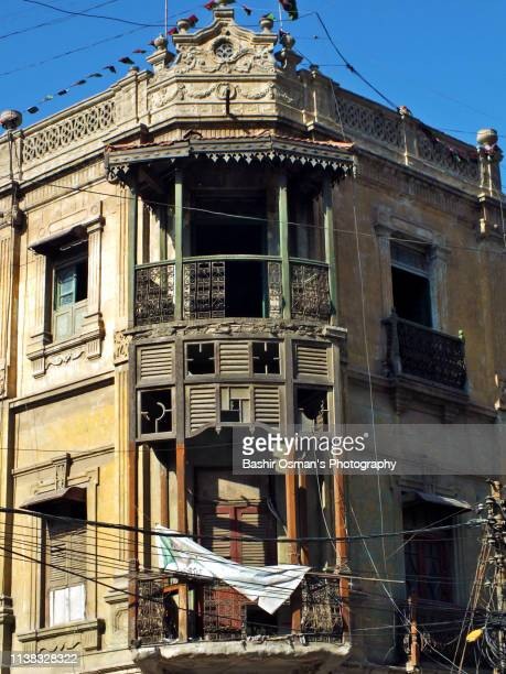 old buildings of karachi - mohammad ali jinnah road stock pictures, royalty-free photos & images