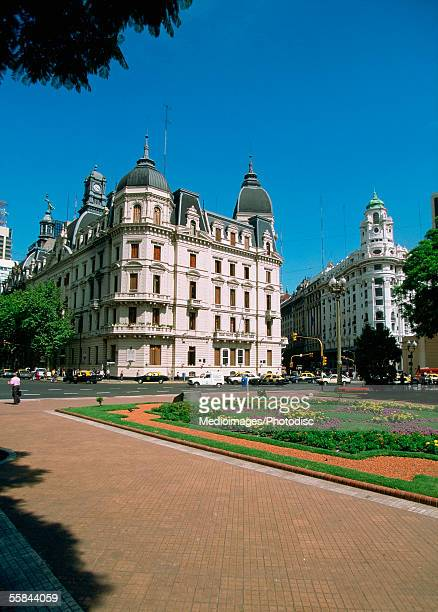 Old buildings on Plaza de Mayo, May Square, Buenos Aires, Argentina