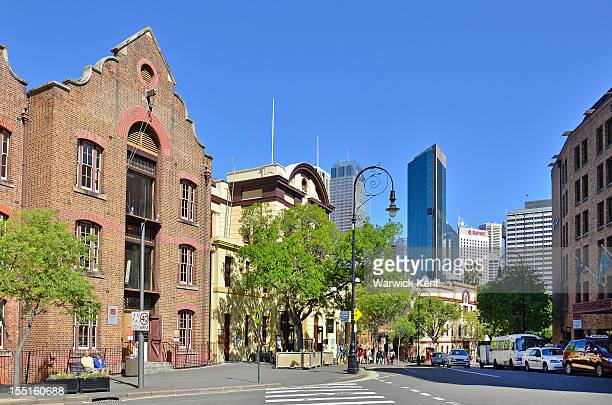 Old buildings with Sydney CBD in backround.