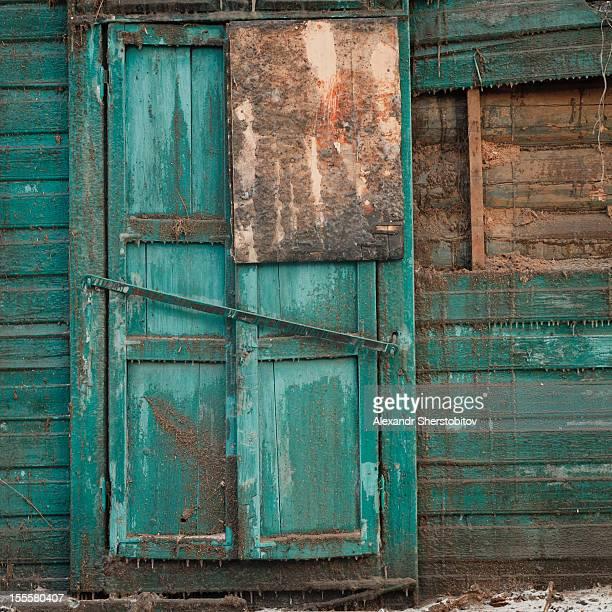 Old burnt door