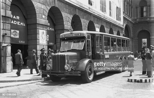 Old bus July 12 Genoa Italy 20th century