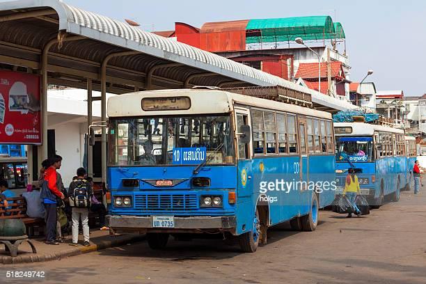 Old buses in Vientiane, Laos
