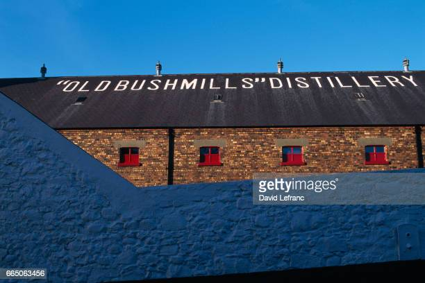 Old Bushmills Distillery the world's oldest licensed distillery in County Antrim uses spring water from Saint Columb's Rill that runs through the...