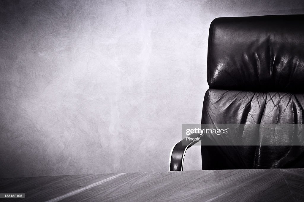Old business great  Success- Leather chair and desk : Stock Photo