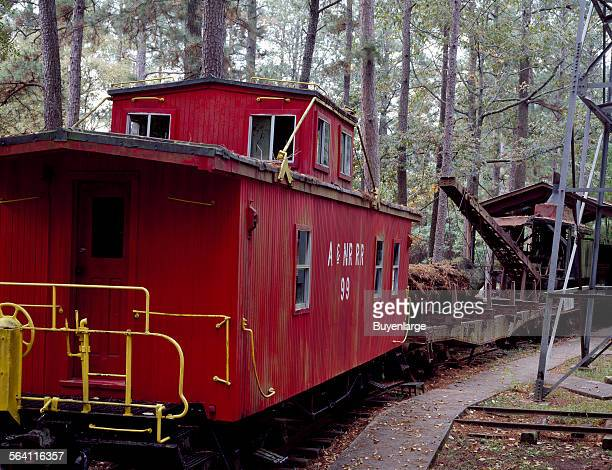 Old caboose at the Texas Forestry Museum Lufkin Texas