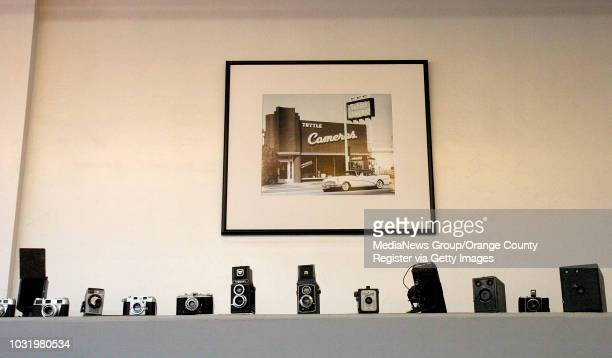 5/18/06 Old cameras on a timeline at Tuttle Camera in Long Beach Calif on May 18 2006