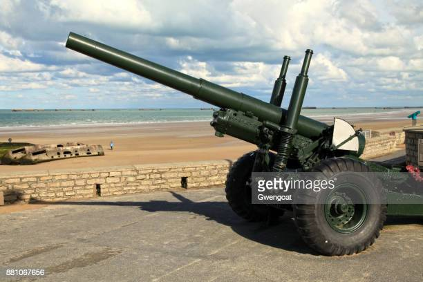 Old cannon in Arromanches