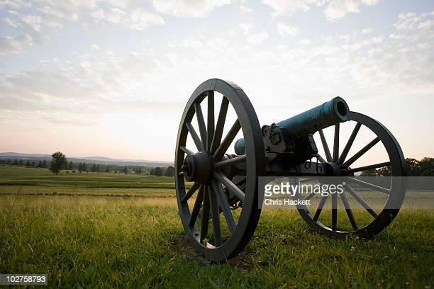 old cannon - reenactment stock photos and pictures