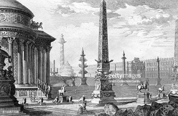 Old Capitol Italy 1749 This print by John WiltonEly depicts an imagined architectural feature from an etching by the Italian artist Giovanni Battista...