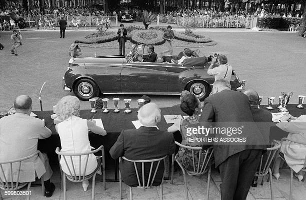 Old Car Contest At The Grand Casino Of Vichy France Circa 1960