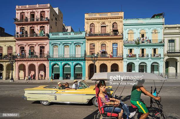 old car on a street  of havana. - havana stock pictures, royalty-free photos & images