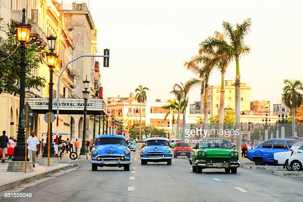 Old cars in Havana street