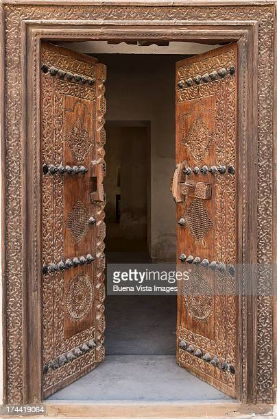 Old  carved door in  Shaikh Isa's House,