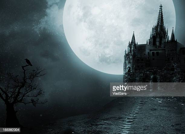 old castle - spooky stock pictures, royalty-free photos & images