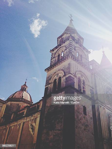 old cathedral on sunny day - acireale stock-fotos und bilder