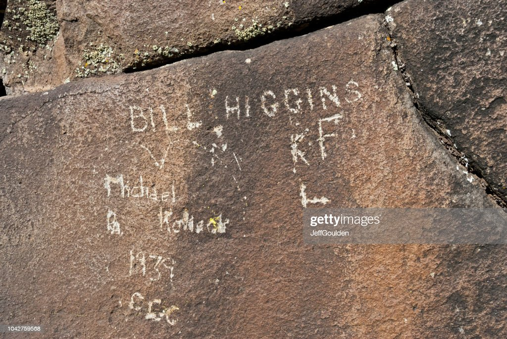 Old CCC Inscriptions : Stock Photo