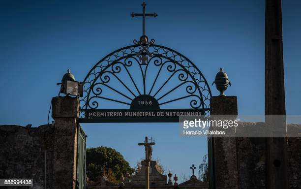 Old cemetery behind the Parish Church of Matosinhos during the visit by participants of Gastronomic FAM Tour on December 02 2017 in Matosinhos...