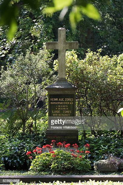 Old cemetery in Bonn, Germany, 09 September 2014. In 1715 it was erected by Elector Josef Clemens for burgers and soldiers. Bonn, that offers many...