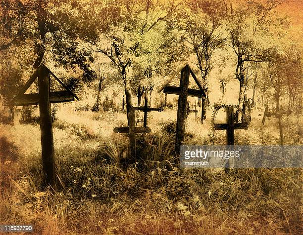 old cemetery - rest in peace stock photos and pictures