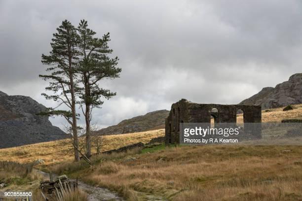 Old Chapel at Cwmorthin quarry, Blaenau Ffestiniog, North Wales