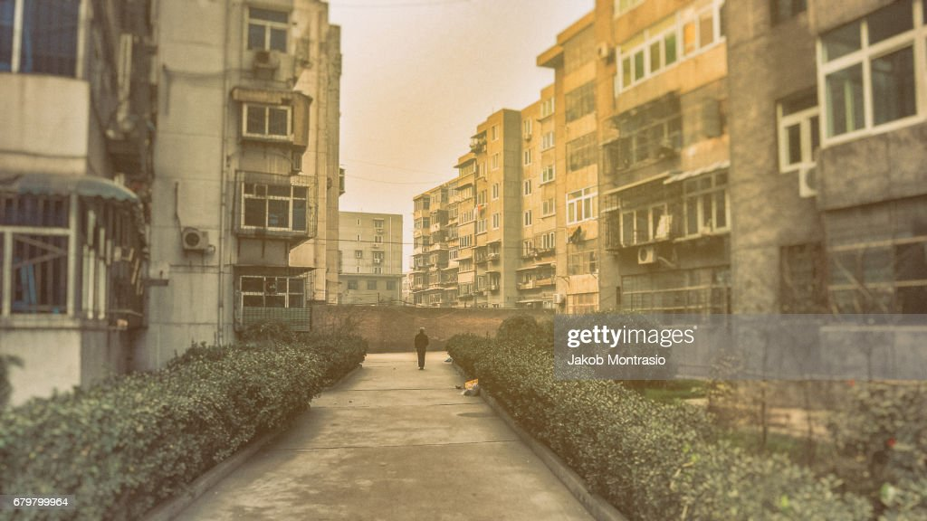 Old Chinese apartments : Stock Photo