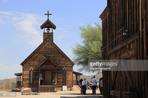 Old church in Goldfield Ghost Town