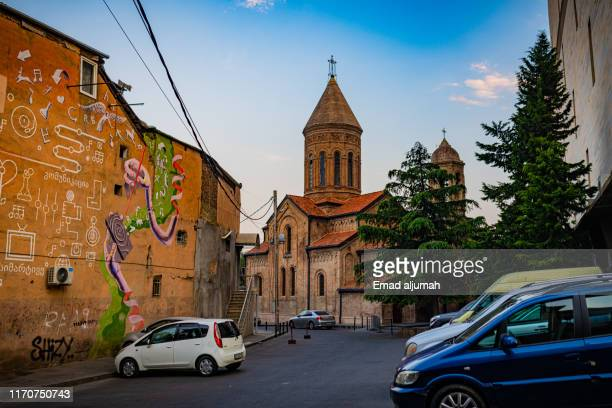 old church of holy trinity, tibilisi, georgia - 国 ジョージア ストックフォトと画像