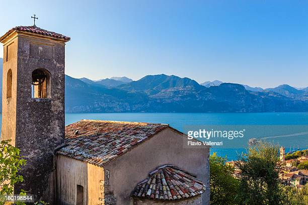 Old church overlooking Lake Garda, Italy